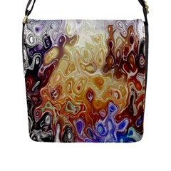 Space Abstraction Background Digital Computer Graphic Flap Messenger Bag (l)