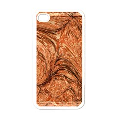 3d Glass Frame With Fractal Background Apple Iphone 4 Case (white) by Simbadda
