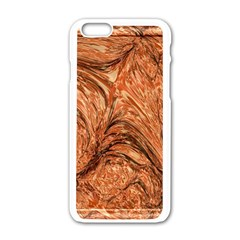 3d Glass Frame With Fractal Background Apple Iphone 6/6s White Enamel Case by Simbadda