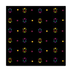 Abstract A Colorful Modern Illustration Black Background Tile Coasters by Simbadda
