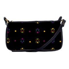 Abstract A Colorful Modern Illustration Black Background Shoulder Clutch Bags by Simbadda