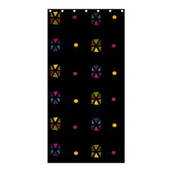 Abstract A Colorful Modern Illustration Black Background Shower Curtain 36  X 72  (stall)  by Simbadda