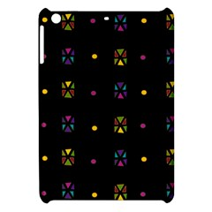 Abstract A Colorful Modern Illustration Black Background Apple Ipad Mini Hardshell Case by Simbadda