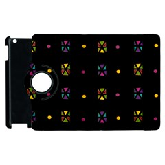 Abstract A Colorful Modern Illustration Black Background Apple Ipad 3/4 Flip 360 Case by Simbadda