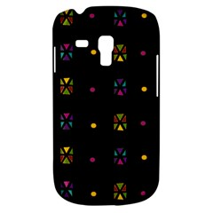 Abstract A Colorful Modern Illustration Black Background Galaxy S3 Mini