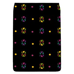 Abstract A Colorful Modern Illustration Black Background Flap Covers (l)  by Simbadda