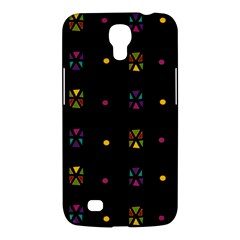 Abstract A Colorful Modern Illustration Black Background Samsung Galaxy Mega 6 3  I9200 Hardshell Case