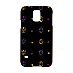 Abstract A Colorful Modern Illustration Black Background Samsung Galaxy S5 Hardshell Case  by Simbadda
