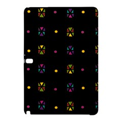Abstract A Colorful Modern Illustration Black Background Samsung Galaxy Tab Pro 12 2 Hardshell Case by Simbadda