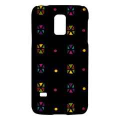 Abstract A Colorful Modern Illustration Black Background Galaxy S5 Mini by Simbadda