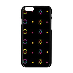 Abstract A Colorful Modern Illustration Black Background Apple Iphone 6/6s Black Enamel Case by Simbadda