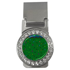 Green Abstract A Colorful Modern Illustration Money Clips (cz)  by Simbadda