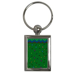 Green Abstract A Colorful Modern Illustration Key Chains (rectangle)  by Simbadda