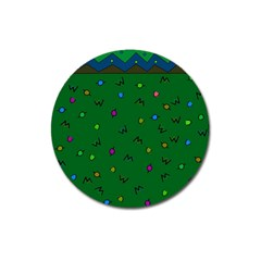 Green Abstract A Colorful Modern Illustration Magnet 3  (round) by Simbadda