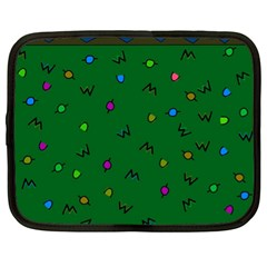 Green Abstract A Colorful Modern Illustration Netbook Case (xl)  by Simbadda