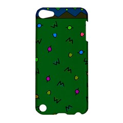 Green Abstract A Colorful Modern Illustration Apple Ipod Touch 5 Hardshell Case by Simbadda
