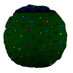 Green Abstract A Colorful Modern Illustration Large 18  Premium Round Cushions by Simbadda
