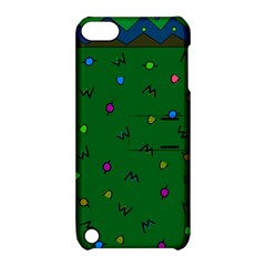 Green Abstract A Colorful Modern Illustration Apple Ipod Touch 5 Hardshell Case With Stand by Simbadda