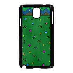 Green Abstract A Colorful Modern Illustration Samsung Galaxy Note 3 Neo Hardshell Case (black)