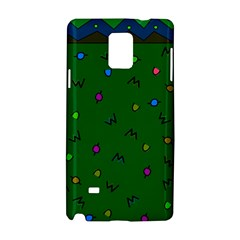 Green Abstract A Colorful Modern Illustration Samsung Galaxy Note 4 Hardshell Case by Simbadda