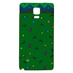 Green Abstract A Colorful Modern Illustration Galaxy Note 4 Back Case by Simbadda