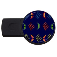 Abstract A Colorful Modern Illustration Usb Flash Drive Round (2 Gb) by Simbadda