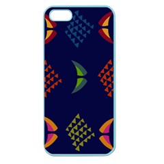 Abstract A Colorful Modern Illustration Apple Seamless Iphone 5 Case (color)