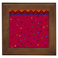 Red Abstract A Colorful Modern Illustration Framed Tiles