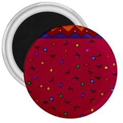 Red Abstract A Colorful Modern Illustration 3  Magnets by Simbadda