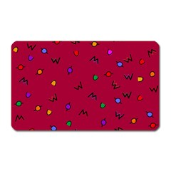 Red Abstract A Colorful Modern Illustration Magnet (rectangular) by Simbadda