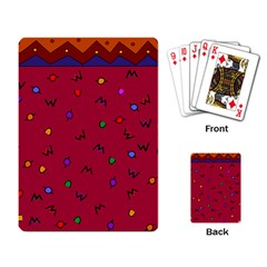 Red Abstract A Colorful Modern Illustration Playing Card by Simbadda