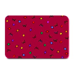 Red Abstract A Colorful Modern Illustration Plate Mats by Simbadda