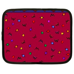Red Abstract A Colorful Modern Illustration Netbook Case (xxl)  by Simbadda