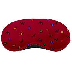Red Abstract A Colorful Modern Illustration Sleeping Masks