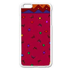 Red Abstract A Colorful Modern Illustration Apple Iphone 6 Plus/6s Plus Enamel White Case