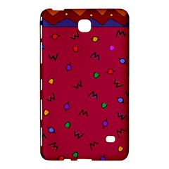 Red Abstract A Colorful Modern Illustration Samsung Galaxy Tab 4 (8 ) Hardshell Case  by Simbadda