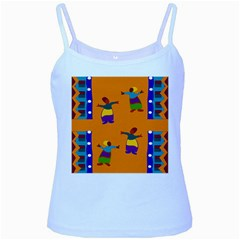 A Colorful Modern Illustration For Lovers Baby Blue Spaghetti Tank by Simbadda