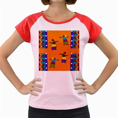 A Colorful Modern Illustration For Lovers Women s Cap Sleeve T Shirt by Simbadda