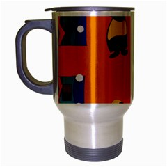 A Colorful Modern Illustration For Lovers Travel Mug (silver Gray)