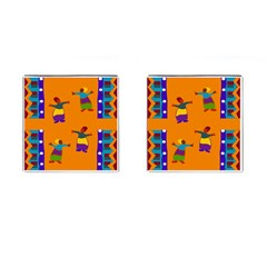 A Colorful Modern Illustration For Lovers Cufflinks (square) by Simbadda