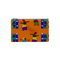 A Colorful Modern Illustration For Lovers Cosmetic Bag (small)  by Simbadda
