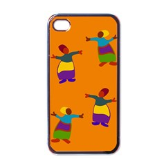 A Colorful Modern Illustration For Lovers Apple Iphone 4 Case (black) by Simbadda