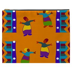 A Colorful Modern Illustration For Lovers Cosmetic Bag (xxxl)  by Simbadda