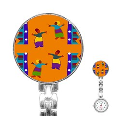 A Colorful Modern Illustration For Lovers Stainless Steel Nurses Watch by Simbadda