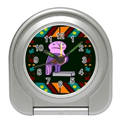 Owl A Colorful Modern Illustration For Lovers Travel Alarm Clocks by Simbadda