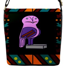Owl A Colorful Modern Illustration For Lovers Flap Messenger Bag (s) by Simbadda