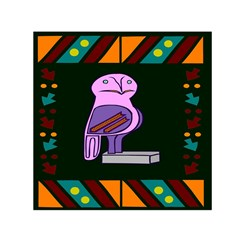 Owl A Colorful Modern Illustration For Lovers Small Satin Scarf (square)