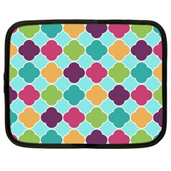 Colorful Quatrefoil Pattern Wallpaper Background Design Netbook Case (large) by Simbadda