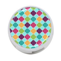 Colorful Quatrefoil Pattern Wallpaper Background Design 4 Port Usb Hub (two Sides)  by Simbadda