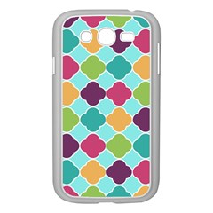 Colorful Quatrefoil Pattern Wallpaper Background Design Samsung Galaxy Grand Duos I9082 Case (white) by Simbadda